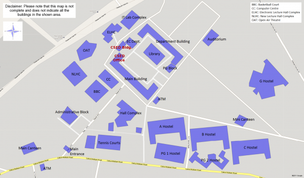 Oc Campus Map.Nit Calicut Map Department Of Computer Science And Engineering