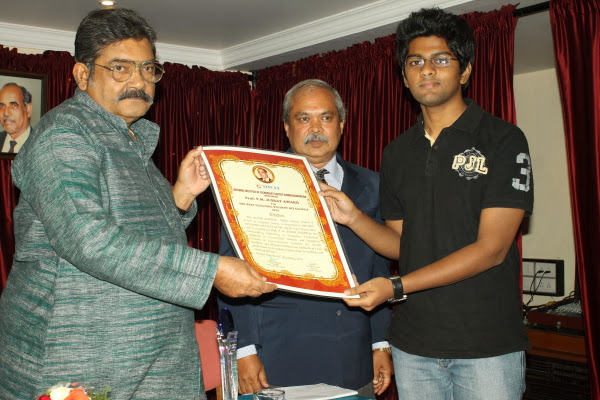 Ayush Jaiswal ( S8 CSE) got the  Prof. P.M. Jussay Award for the Best Outgoing S