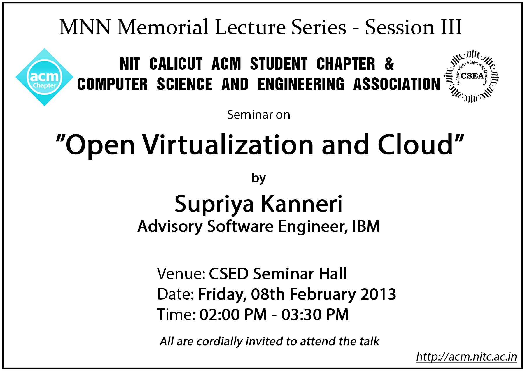 Event news department of computer science and engineering 3rd lecture of mnn lecture series open virtualization and cloud 1betcityfo Gallery