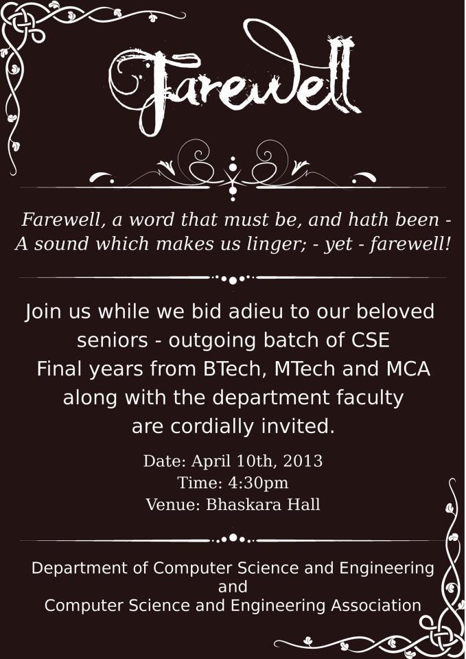 Farewell Invitation Poster